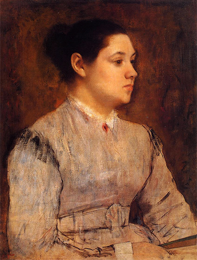 Portrait of a Young Woman Edgar Degas